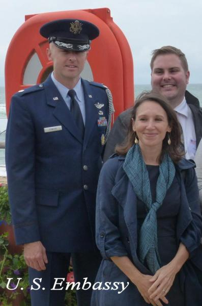 U. S. Embassy, France - Major John D. FOWLER and Anne Marie (wife) - Behind Chris