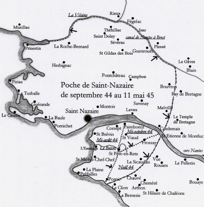 Carte poche de saint nazaire isac