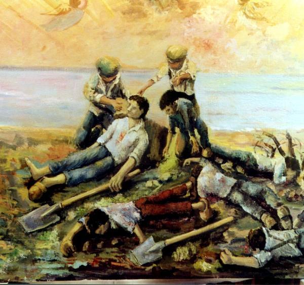 Fresque louis barteau catastrophe du boivre