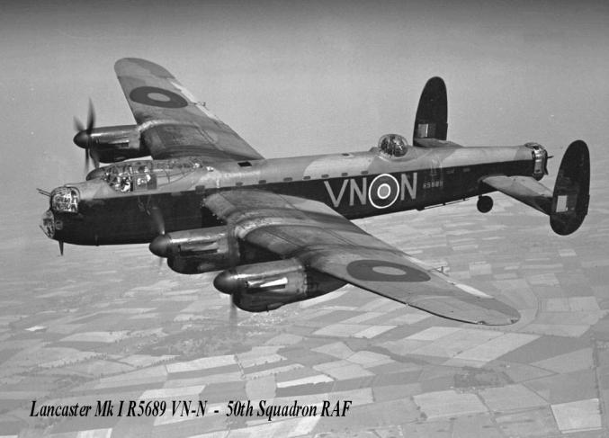Lancaster Mk I R5689 VN-N - 50th Squadron RAF
