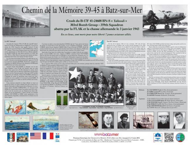 Panneau Batz-sur-Mer 2016
